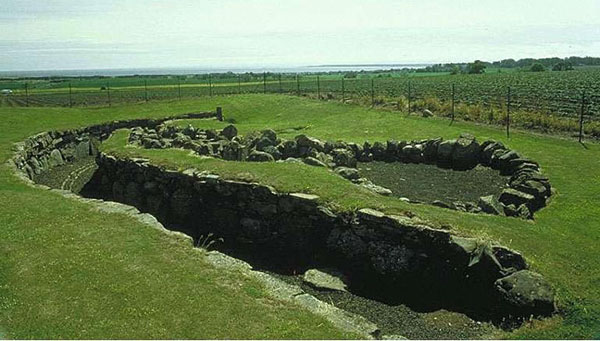 An excavated souterrain at Ardestie, near Dundee