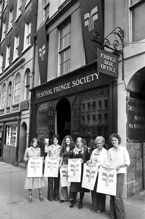 Edinburgh fringe festival box office George Square Festival Fringe Society The Box Office 1977 Edinburgh Festival Fringe